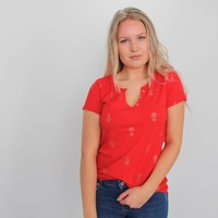 Pineapple t-shirt red