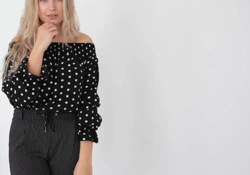 Simoni Off shoulder dots blouse