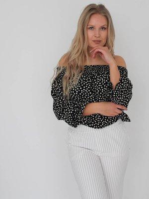 Simoni Off shoulder middle dots blouse