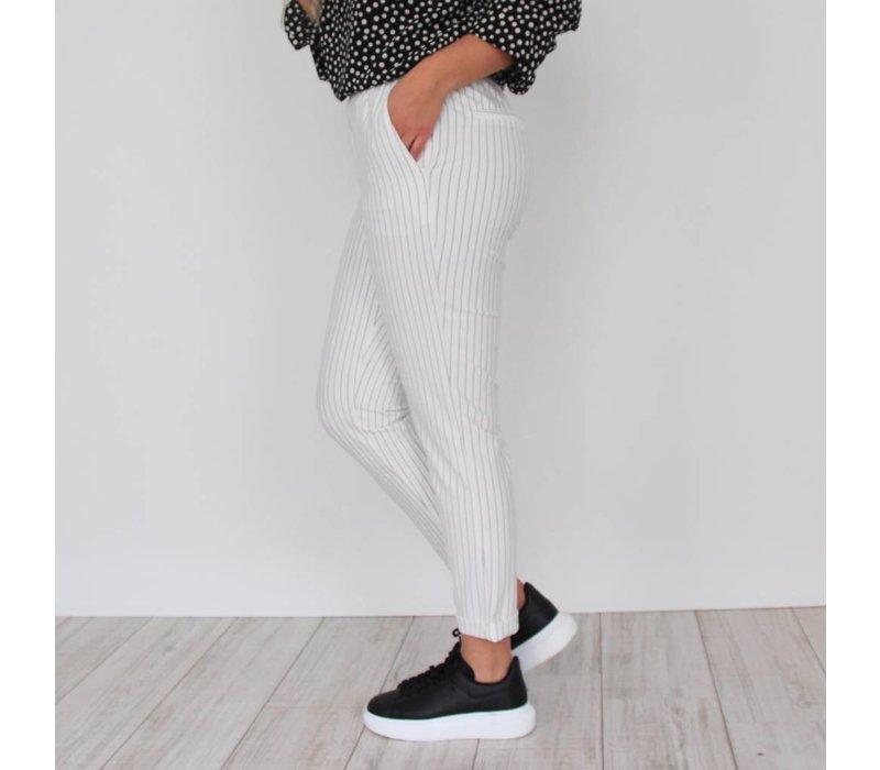 Love stripes pants white
