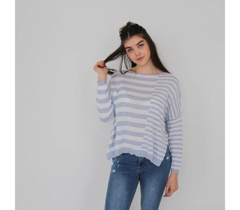 Striped jumper blue