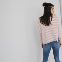 Striped jumper roze