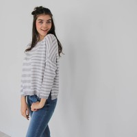 Striped jumper grey