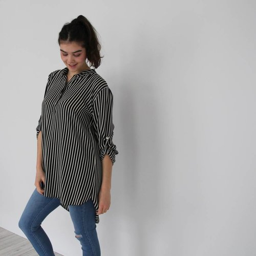 Complimento Striped blouse dress