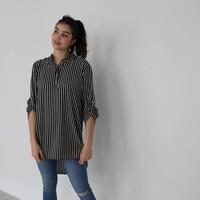 Striped blouse dress