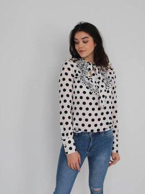 Vie ta vie Volant blouse with dots