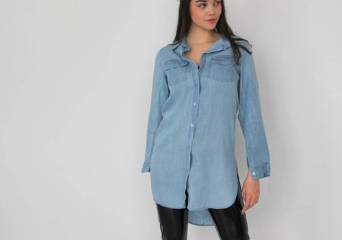 Moda Long jeans blouse