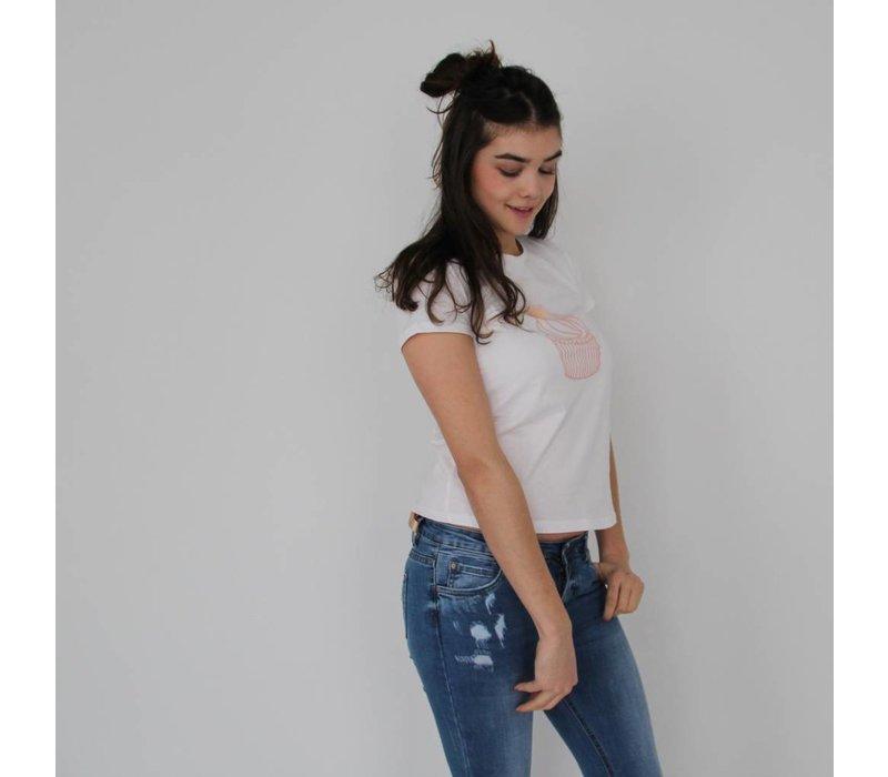 Cupcake shirt white