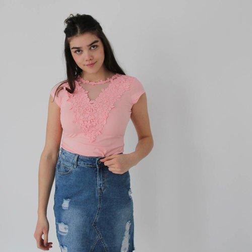 Beauty Fashion Lace t-shirt