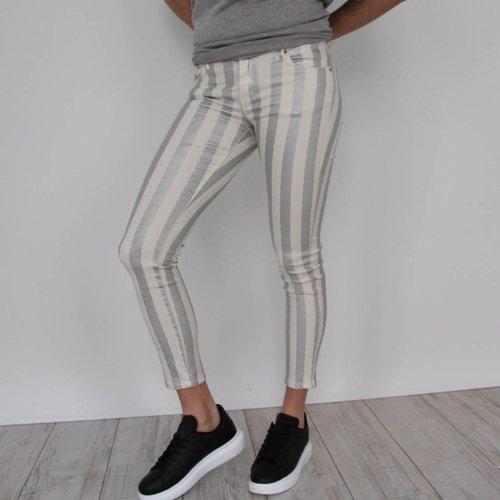 Toxik Silver striped glitter jeans