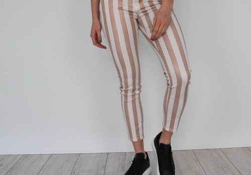 Toxik Rose striped glitter jeans