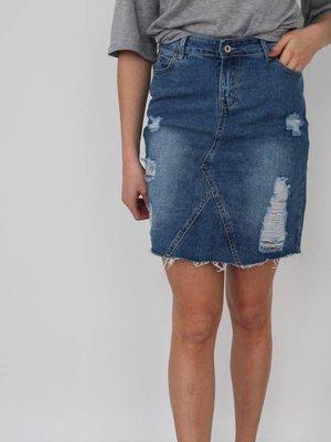 Cherry Koko Timeless denim skirt