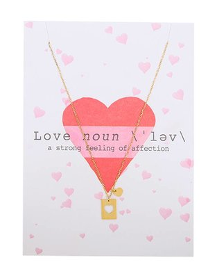Yehwang Postcard 'Noun' with necklace