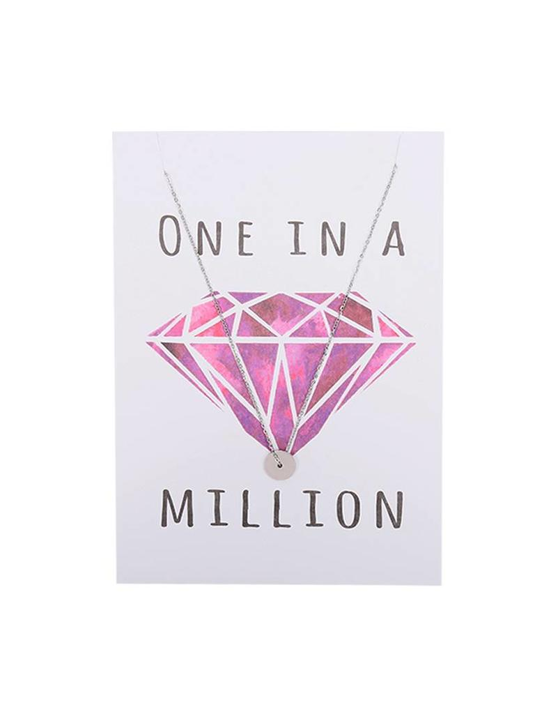 Yehwang Postcard 'One in a million' with necklace