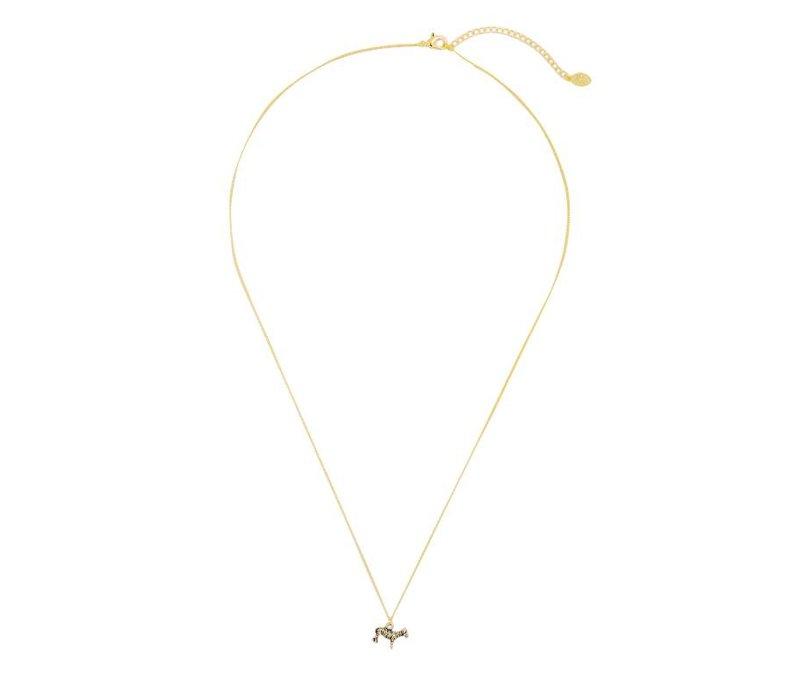 Necklace zesty zebra gold