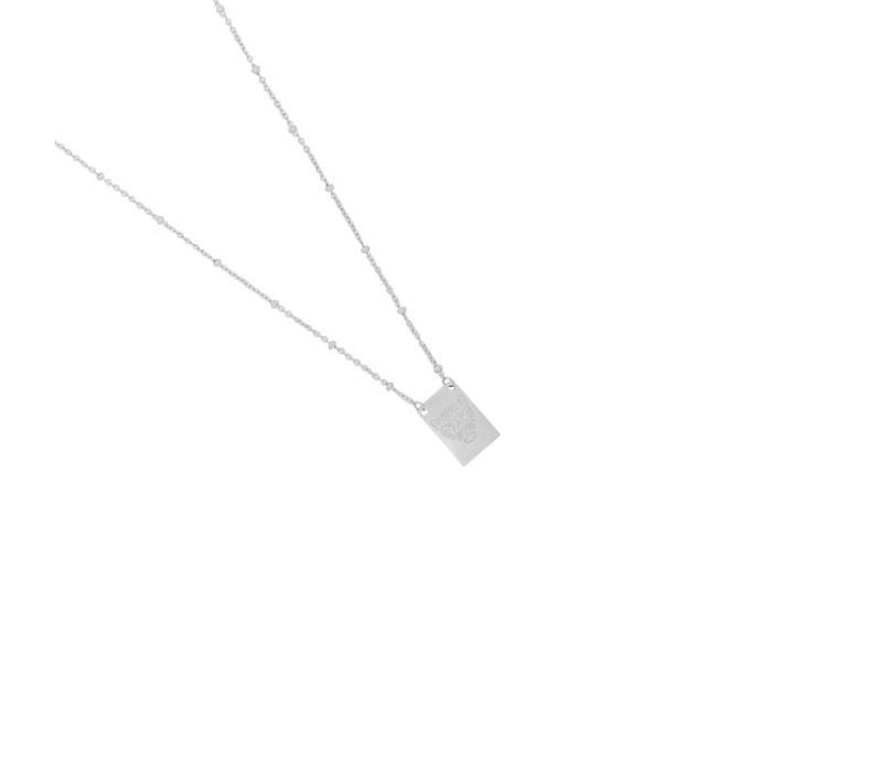 Necklace wild silver
