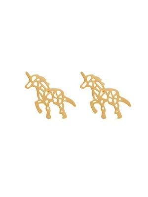 Yehwang Earrings Stylish Walking Unicorn