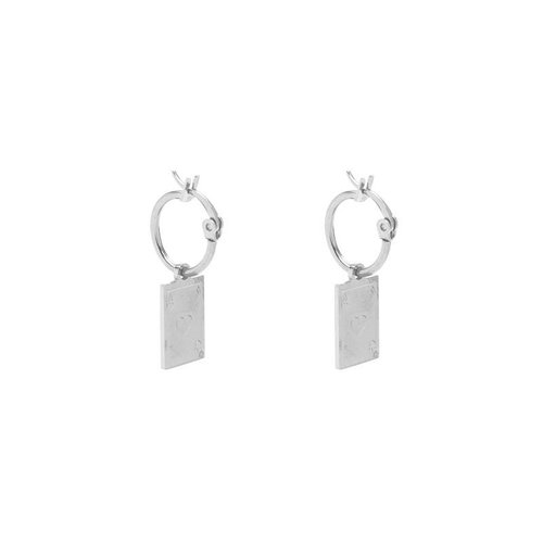 Yehwang Earrings ace of hearts