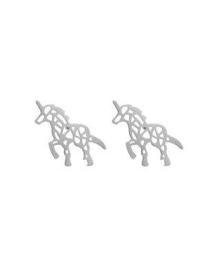 Yehwang Earring stylish walking unicorn