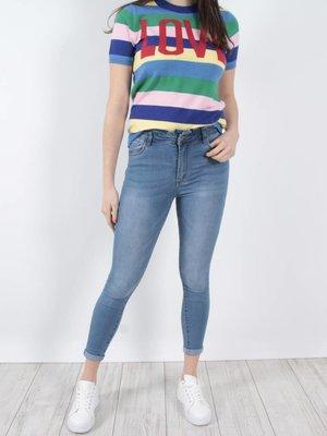 Queen Hearts Ruffle waist jeans