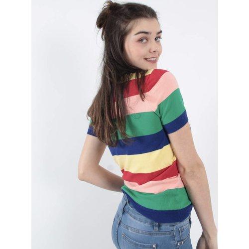 Vintage Dressing Happy striped color jumper