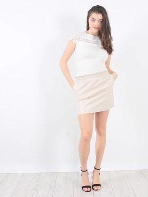 Vintage Dressing Classy girl skirt nude