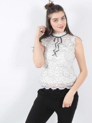 Capsule Lace top black&white