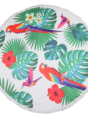 Yehwang Beach towel parrot jungle