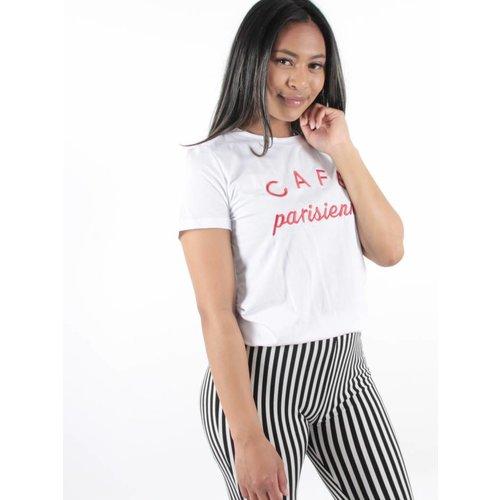 Yu & Me Cafe parisienne t-shirt white