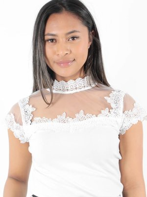 Lulumary Lace shirt white