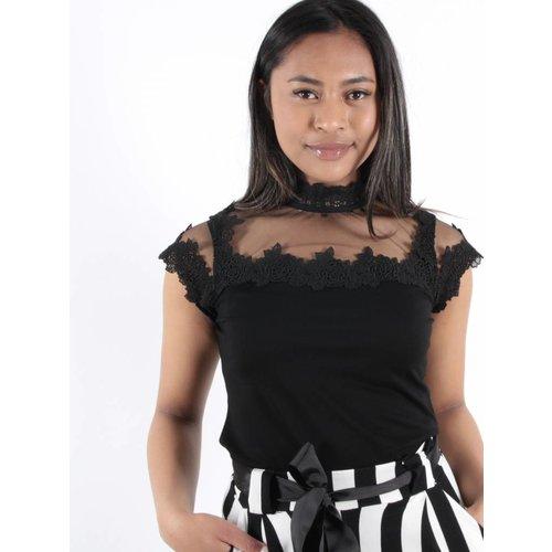 Lulumary Lace shirt black