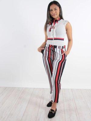 In Vogue Body white stripe