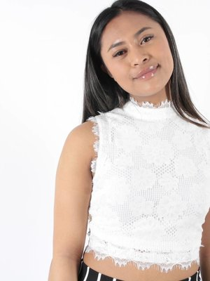 Vera & Lucy Crop top lace white
