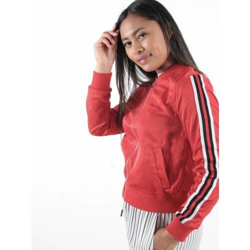 Cherry Koko Bomberjack red stripes