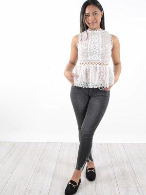 Queen Hearts Jeans skinny crop
