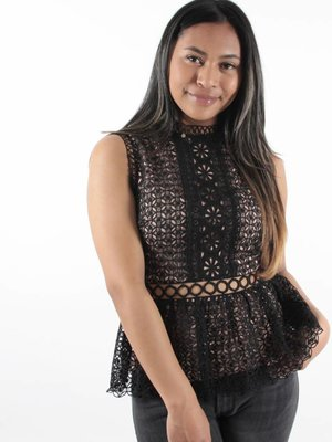 Lucy Wang Peplum lace black