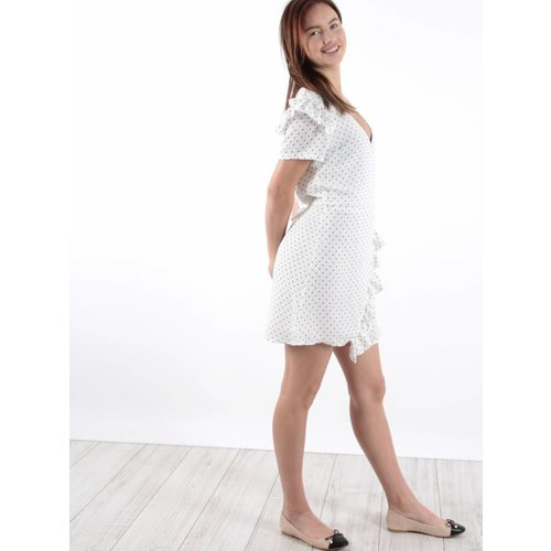 Kaylla Dress white dots
