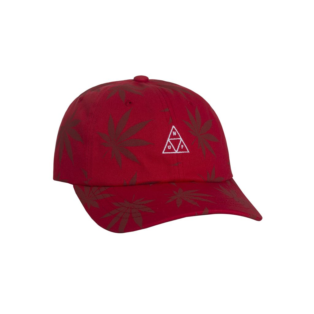 HUF HUF, 420 TRIPLE TRIANGLE DAD HAT, RED