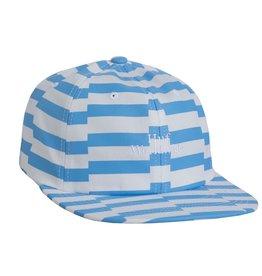 HUF HUF, OFFSET STRIPE 6 PANEL, LIGHT BLUE