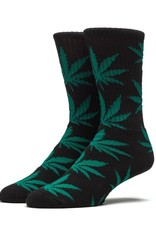HUF HUF, PLANTLIFE CREW SOCK, BLACK GREEN