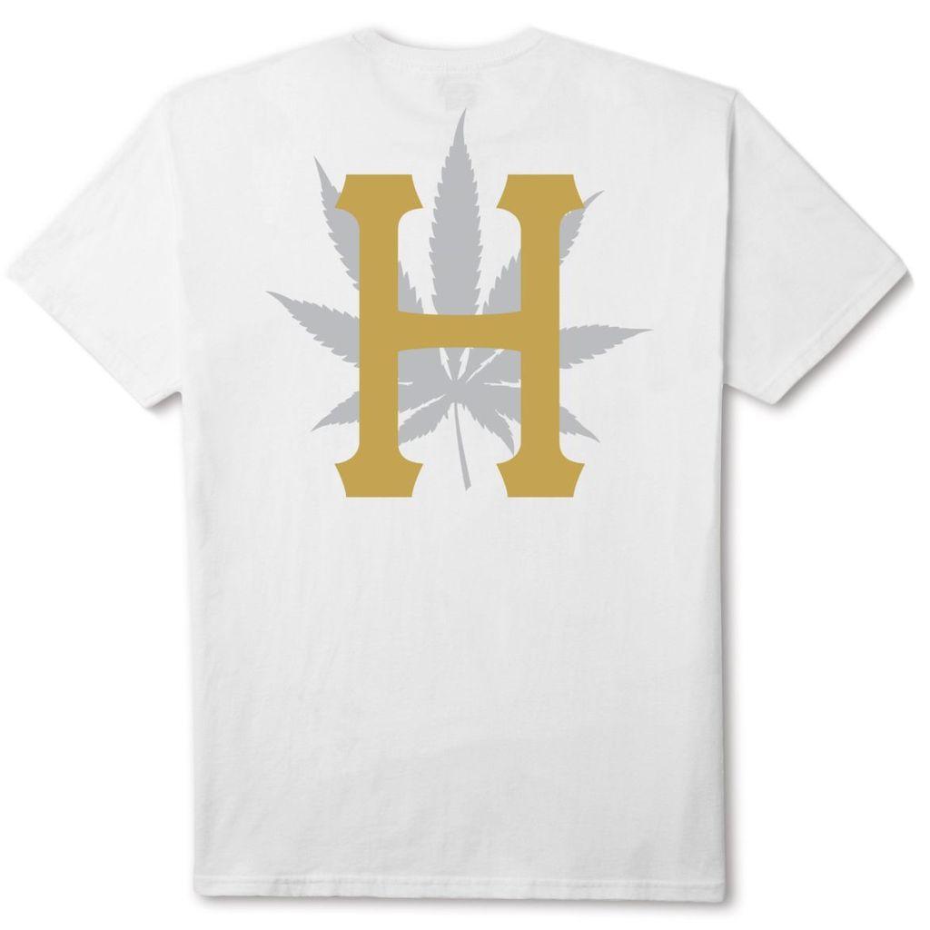 HUF HUF, PLP S/S GOLD PRINT TEE, WHITE