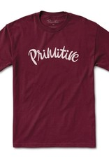 PRIMITIVE PRIMITIVE, DUSTY TEE, BURGUNDY