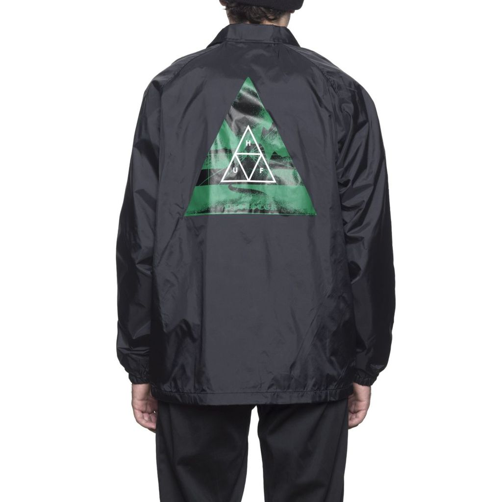 HUF HUF, DIMENSIONS COACHES JACKET, BLACK