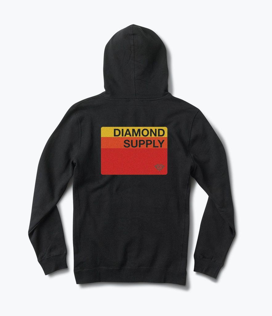 DIAMOND DIAMOND, FADER ZIP-UP HOODIE