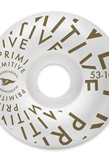 PRIMITIVE PRIMITIVE, WHEELS, PENNANT VORTEX TEAM 1 WHEEL, WHITE