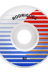 PRIMITIVE PRIMITIVE, WHEELS, RODRIGUEZ SHUTTER WHEEL, WHITE, 51 mm