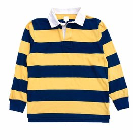 POLAR BLOCK STRIPE POLO LONGSLEEVE