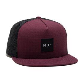 HUF HUF, BOX LOGO TRUCKER, BURGUNDY
