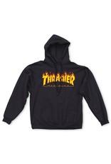 THRASHER THRASHER FLAME HOODED SWEAT BLACK