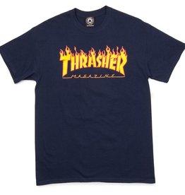 Thrasher THRASHER FLAME T-SHIRT NAVY